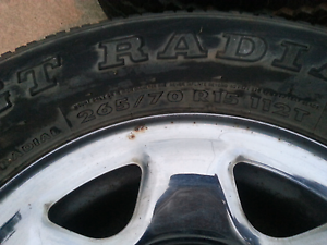 Set of 4 15 inch  chrome wheels 265/70 r15 from a pathfinder r50 Inala Brisbane South West Preview