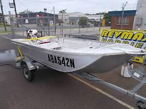 Horizon 335 V nose Punt, 9.9hp Johnson rego trailer Coffs Harbour Coffs Harbour City Preview