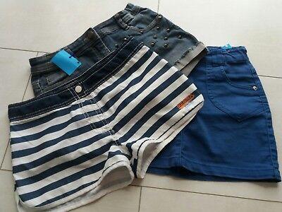 Kleiderpaket  für Mädchen, Frühjahr/ Sommer, zwei Shorts und ein Rock, Größe 140