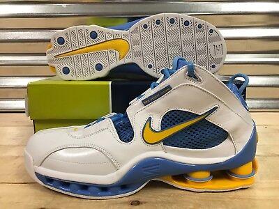 62a64c4c163 Nike Shox Elite Denver Nuggets Retro Shoes White Blue Maize SZ 11.5  (309267-171