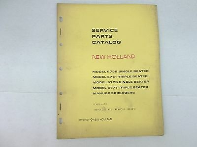 New Holland Manure Spreader Service Parts Catalog 675s 675t 677s 677t