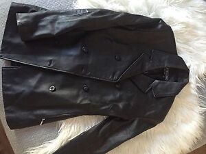 Genuine black leather jacket size 6 Greenwith Tea Tree Gully Area Preview