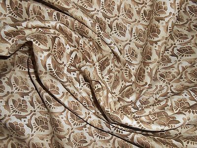 6 Y SCALAMANDRE cotton fabric TIMUR small print in soft chocolate brown