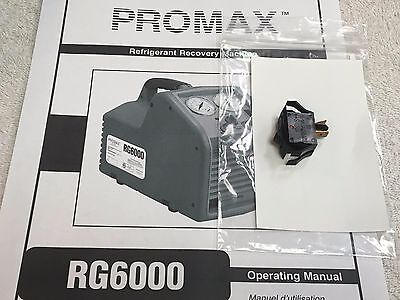 Promax Rg6000 Refrigerant Recovery Unit Main Onoff Power Switch 2 Terminal