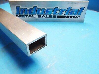 6063 T52 Aluminum Rectangle Tube 1 X 1-12 X 24-long X 18 Wall--new