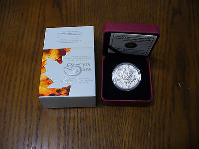 Click now to see the BUY IT NOW Price! 2013 CANADA 5$ FINE SILVER HIGH RELIEF PIEDFORT 25TH ANNIVERSARY OF THE MAPLE