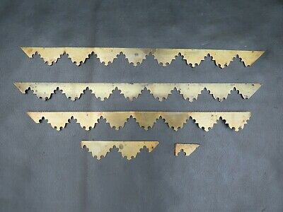 Antique or vintage writing slope box brass inlay strips - spares parts
