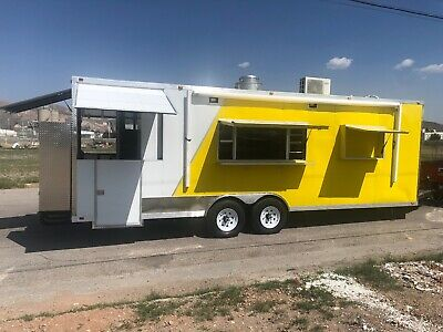 25 X 8.5 Concession Food Trailer Restaurant Bbq Toilet Package..