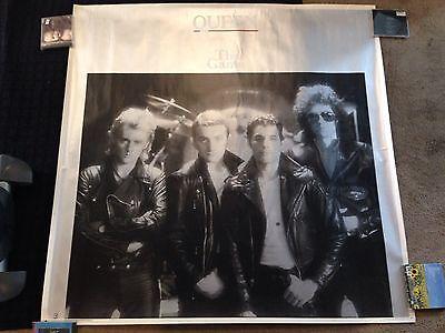 Queen The Game Elektra Huge Original Promo Poster Display Freddie Mercury Glam