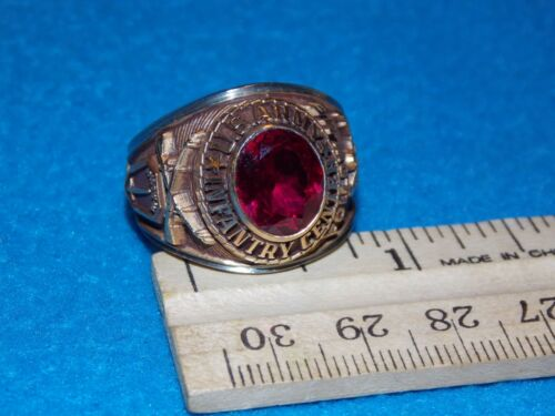 VINTAGE - U.S.ARMY INFANTRY RING - SIZE 11.5 - FOLLOW ME - NOS - ALPHA BRAND