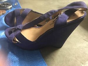 Purple wedges sz 8 (worn once) Forest Lake Brisbane South West Preview