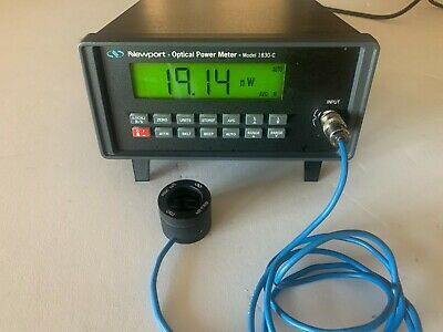 Newport 1830-c Optical Power Meter With 818-ir Detector And Calibration Module.
