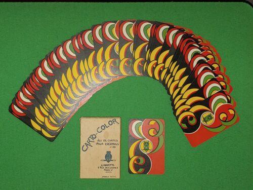 RARE 1950 CARTO COLOR FANNING DECK, CARDS w/BOX, MAYETTE MAGIC, PARIS, FRANCE