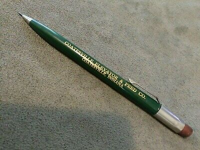 Vintage advertising mechanical pencil Coatesville elevator & feed co. Indiana IN