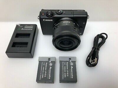Canon EOS M100 24.2MP Digital Camera - Black (Kit w/ EF-M IS STM 15-45mm Lens)
