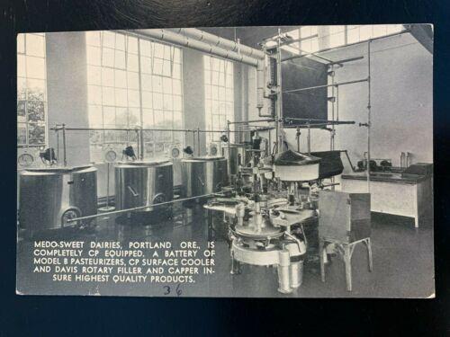 Postcard Portland OR - Medo-Sweet Dairies Pasteurizers - Oakhurst Dairy Farm ME