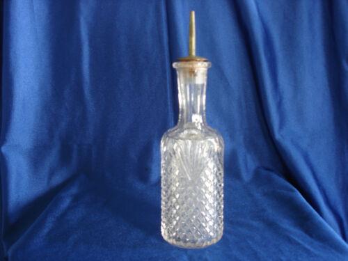 Antique Pressed Glass Barber Bottle with Pontil