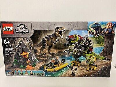 LEGO Jurassic World T. Rex vs Dino-Mech Battle Set #75938 716 pcs NEW IN BOX