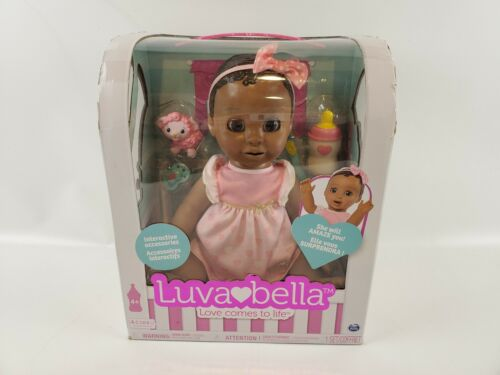 6038114 Luvabella Brunette Hair Interactive Baby Doll with Expressions Movement