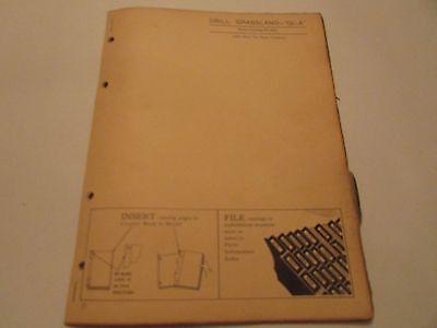 John Deere Pc-510 Gl-a Grassland Drill Parts Catalog Manual 12-1956