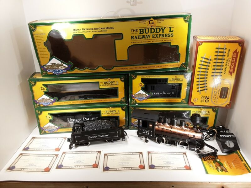 G Scale BUDDY L Union Pacific Overland Route Set #53 Steam Locomotive Tested