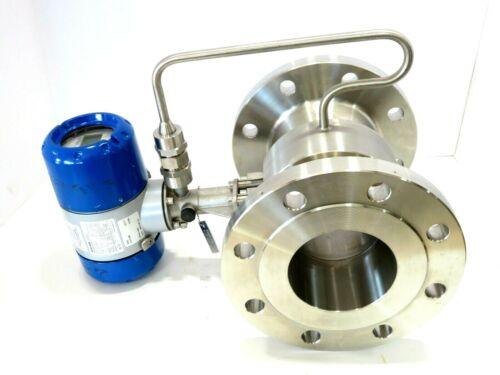 """4"""" Krohne OPTISWIRL 4070/C CL150 Vortex Flowmeter K Factor 1226.6 MFD 2012 NEW"""