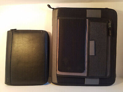 Lot Of 2 Portfolios-american Standard 3-ring Binder At A Glance Portfolio-new