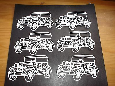 Die cut Vintage cars