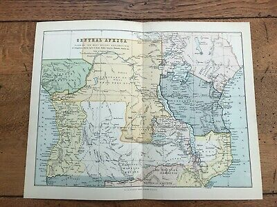 1880's map of central africa !