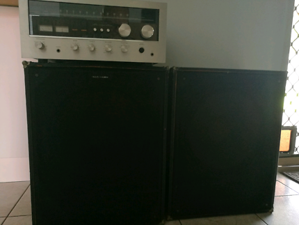 """Amplifier 100 watts and 15"""" PA speakers"""