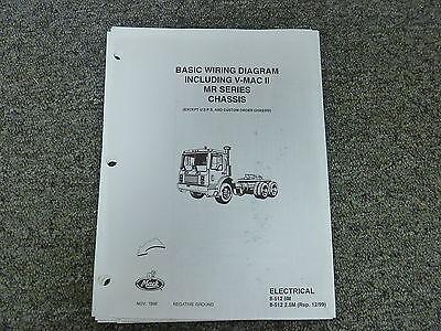 Mack Truck MR Series Chassis w/ V-Mac II Electrical Basic Wiring Diagram Manual