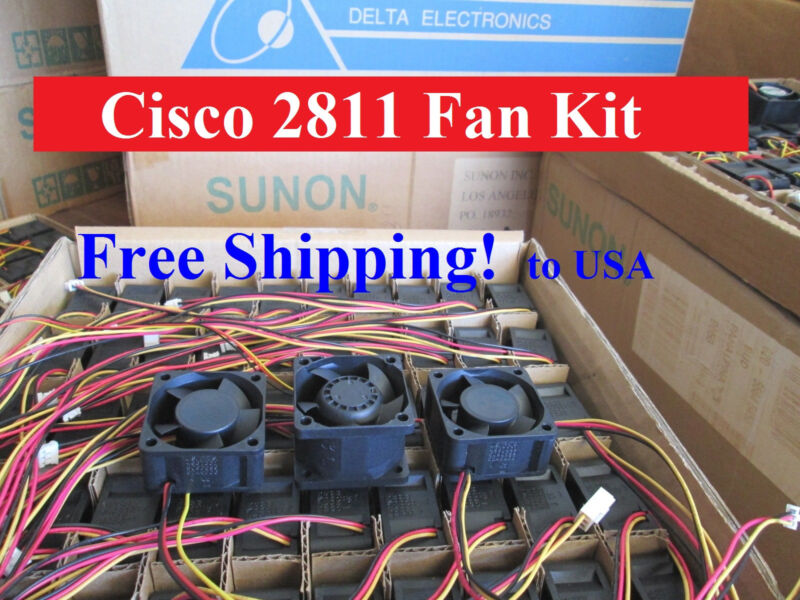 Cisco 2811 Router Replacement Fan Kit (pack of 3 new fans), ACS-2811-FAN-KIT=