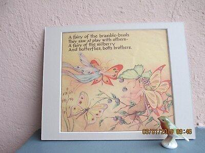 vintage illustration of fairies and butterflies 1949 (Butterflies And Fairies)