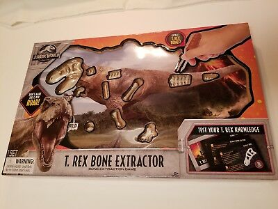 Jurassic World T-Rex Bone Extractor Dinosaur Operation Stem Game Toy NIB   for sale  Pilot Point