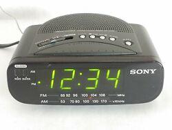 Sony Dream Machine ICF-C212 AM FM Alarm Digital Clock Radio Black Cleaned Tested