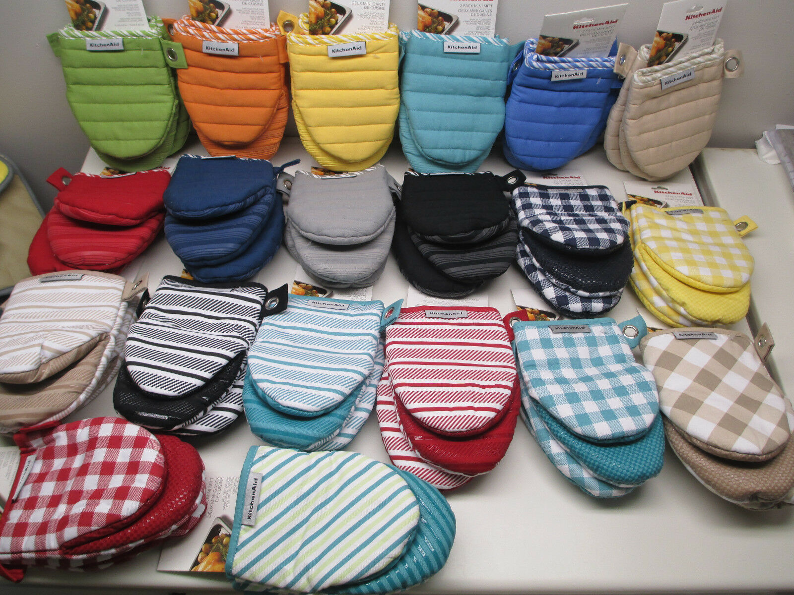 KitchenAid 2 pack of mini oven mitt/mitts choice of color 10
