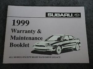 1999-Subaru-Maintenance-Owners-Manual-Supplement