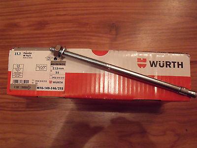 25 Stck. Fixanker von Würth W-FA/S M10-140-146/215 gebraucht kaufen  Bergrade Dorf