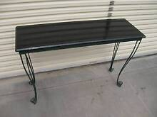 Painted black top table with wrought iron legs Adelaide Region Preview