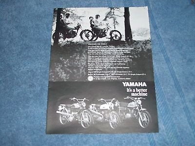 1969 Yamaha Enduro Vintage Ad  Discover The Family  Trailmaster