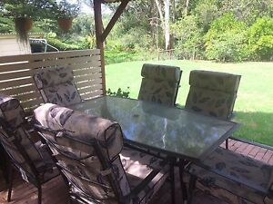 6 seat glass outdoor table Narara Gosford Area Preview