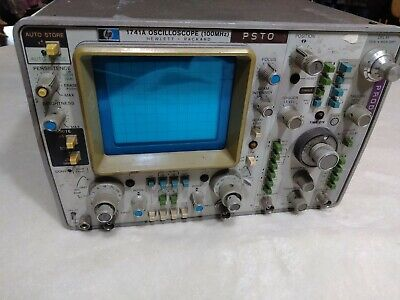 Hp Hewlett Packard 1741a Keysight Agilent 100mhz 2 Ch. Storage Oscilloscope Good