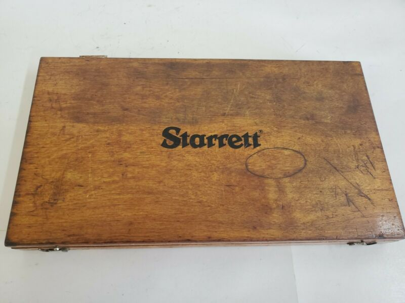 STARRETT DEPTH MICROMETER WOODEN CASE ONLY ****NO MICROMETER****