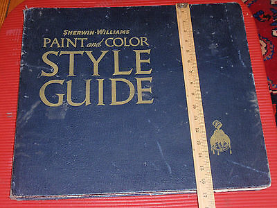 Huge Vintage Sherwin  Williams Color   Picture Sample Book  25 X 17 Inches  1941