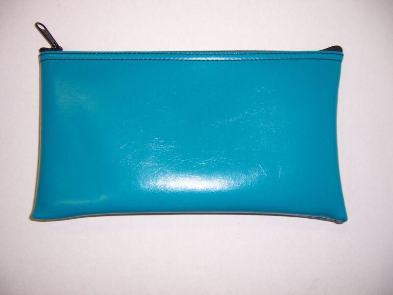 6 Pack Brand New Turquoise Vinyl Bank Deposit Money Bag Tool Organizer