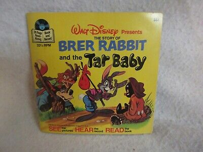 Vintage DISNEY Brer Rabbit & the Tar Baby BOOK & RECORD TESTED 1977