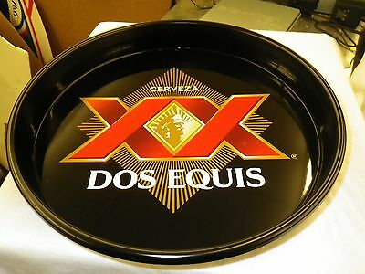 "13""Metal Tin Dos Equis XX Bottle Tin Tray Beer MINT NEW CONDITION Server Serving"