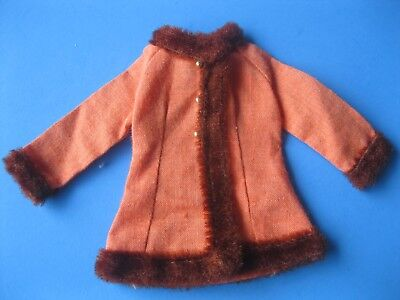 Vintage Barbie Doll Mod ORANGE JACKET Winter Wow Outfit #1486 Clothes 60's - 60s Mod Outfits