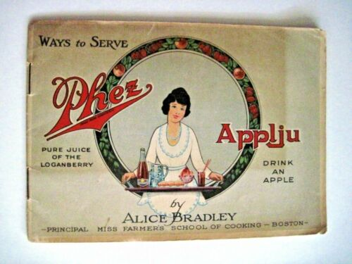 "Vintage Advertising Booklet ""Phez Applju"" w/ Recipes & Colored Pictures *"