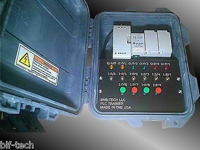 Allen Bradley Micro 820 Plc Trainer With New 2080-lc20-20qwb Plc In Camo Case